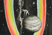 A Space Odyssey / Vintage Cosmology, Retro Astronauts, Space Trips & Exploring the Universe