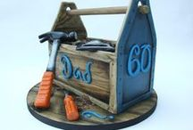 Men, Dad, Groom Cake Ideas / Cakes perfect for celebrating Fathers Day or Dad's Birthday!