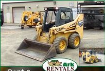Skid Loaders / Rent a Skid Loader from Ark Rentals and get that dirt or stone moved! Call: 570-366-1071 for Prices & Details! Email: Info@arkrentals.com