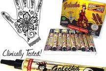 Henna  - Mehndi/Mehandi Tatoo / Henna Pasten, Mehandi Öl und Mehndi Schablonen für Henna Tatoos.  / by Der Lebensfreudeladen