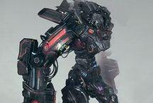 Robots de uso rudo / Aquí están las maquinas para la guerra y uso rudo.