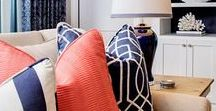 Color Crush - Navy & Coral / Navy Blue and Coral decor, fashion, and design // color palettes