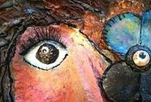 Mixed Media Ideas / Mixed Media Art, Altered Art, Assemblage Ideas