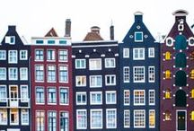 Amsterdam / Gorgeous Amsterdam, streets, houses, canals, reflections; a constant source of artistic inspiration.