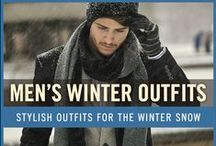 Men's Winter Outfits / As the temperature drops and snow begins to fall, it's not uncommon to see men's fashion go along with it. Winter is actually a great time to step up your personal style and start experimenting with layering different pieces of your wardrobe. Enjoy our collection of men's winter outfits to help you stay stylish while out in the snow.