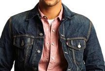 Chambray and Denim Shirts / Chambray has been around in men's wardrobes forever. It was originally created in France. Chambray (light denim) is perfect to wear in the summertime or for layering because of its lightweight quality. There are many ways to wear your chambray or denim shirt, so go ahead and check out this chambray and denim shirts collection for some inspiration. #menswear #mensfashion #chambray #denim