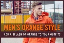 Men's Orange Fashion Style / Orange is a great color that you can wear to make a splash! Check out our board of men's orange outfits and looks for your inspiration!