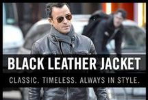 Men's Black Leather Jackets / The black leather jacket is timeless. If you decide to wear one, make sure that if fits you well. Fit is key when it comes to the black leather jacket. Enjoy our collection of black leather jacket inspiration for men.