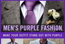 Men's Purple Fashion Style / Looking to make your outfit stand out in the crowd? Add a purple to your look. Enjoy our board of purple and lavender inspiration.