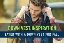 Men's Down Vest Fashion Style / Fall is a great time to wear a down vest. The weather is just starting to get cooler, but not cold enough where you will need more protection from the elements. The down vest is great for layering, and can really complete a look. Enjoy our collection of down vest outfits for your inspiration.