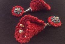 Bymima / Bijoux en Lin -- Earings or pendants made of linen to order on www.regionelles.com, Mode et accessoires, Region Haute-Normandie