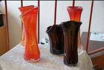 Chrystelle Sanlaville / Souffleuse de Verre -- Glass blowing artist- to order her créations, just click on www.regionelles.com, then Art et décoration, Region Haute-Normandie -