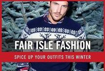 Men's Fair Isle Sweaters Style / With winter approaching, you can spice things up a bit with a fair isle sweater. Enjoy our board of men's fair isle sweaters and get inspiration.