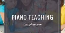 Piano Teaching / A compilation of blog articles that tackles about piano teaching tips, piano techniques/method and a lot more. #pianoteaching #tips #education #piano #music #teachingpiano #teachingtips