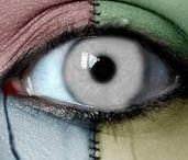 I look at an eye.