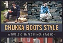 Chukka Boot Style / A collection of men's chukka boots fashion for your inspiration. Chukkas are a classic boot with origins that date back to the 20's. The ankle-high unlined leather boots generally have two or three pairs of eyelets for laces with a rounded toe.
