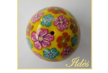 Cabochons et Perles en Fimo - Cabochons and Beads, hand made polymer clay