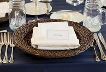 Delightful Details / Wedding ceremony and reception items: Programs, Menus, Table Numbers, Escort Cards, Place Cards, and more.