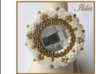 Schémas de bagues en perles. Ring's patterns