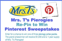 Mrs. T's Re-Pin to Win / For official sweepstakes rules, please visit: www.Hunterpr.com/MrsTsRepin2Win / by Mrs. T's Pierogies