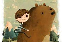 illustration in kids room