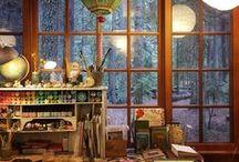 Artist Studio / I looove peeking into another artist's art studio, craft room, atelier, study, workshop, home studio, work room, place, space, loft.