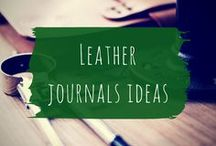 Leather journals ideas / Pretty leather journals and other leather stationery accessories.