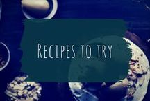 Recipes to try / Noms I that make me hungry and I want to try making.