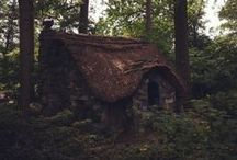 Forest Cabin / Witch cottage | Old rustic cabin | Stone house | Tree house | Ruins | Into the woods