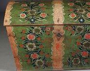 Folkart & Old furniture / Folk art Allmoge Kurbits Hälsingegårdar Old furniture