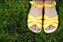 Yellow Days / Premium Yellow Salt-Water Sandals for Women plus other pleasing yellow loveliness