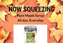 ~Real vs Faux Maple Syrup~ / Real maple syrup come from a tree sap that is boiled down into a concentrated form. Faux syrup is made in a factory and lab and commonly known as High Fructose Corn Syrup, which is now known to cause certain cancers. You decide which you'd rather squeeze on your pancakes.