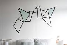 Wall decor: tape