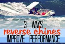 "Reverse chine boat performance / The reverse chine of Kapten Boat Collars do the same thing surfboard fins do: lift and aid control. See videos of ""the Surfing Tinnie."""