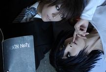 Death note / Death Note, another anime that I really like. This anime is about a guy named Light Yagami who finds a notebook were he can write down a person's name (it must be their full name and he must think about their face while writing down the name) and the person will die of a heart attack about 40 seconds after that the name has been written down. I really recommend the anime for those who like drama and criminal series. My favorite character must be L of course :)