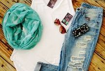 Outifts. / Fashionable clothes.