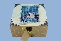 Sisters Baby Keepsake Boxes / #Handmade #Baby #Keepsake #Boxes