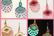 Náušničky - moja tvorba, Earrings - my production / O korálkovaní