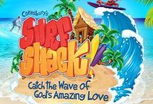 Surf Shack VBS 2016 / Ideas and inspirations for beach themed VBS - Surf Shack, Ocean Commotion, & Deep Sea Discovery VBS 2016.