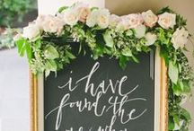 Signs/ Calligraphy / Wedding signs/ chalkboards w/ calligraphy