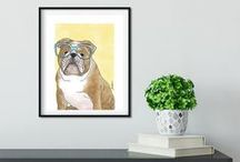 Tara Joy Andrews - dog art, cat art, wall art, stationery / I make pet portrait style art of dogs and cats wearing glasses. Follow my board to be the first to know of the latest products and promotions. I love making stationery, postcards, wall art, art prints, and other goodies featuring my illustrations. #dogart #catart #wallart dogartprint #catartprint #dog #cat #snailmail #postcards #cards #cute #dogcard #catcard #blankcards #notecards #stickers #catillustration #dogillustration