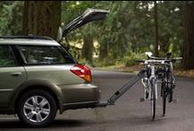 Softride Alumina 3 Bike Rack / Softride's Alumina 3 is a full-featured aluminum bike rack at a fraction of the weight of most, carrying up to three bikes, with our unique parallelogram design that lowers away with bikes loaded to allow rear access to vehicle. More at http://www.softride.com/rack-products/specifications/softride_alumina_3_bike_rack