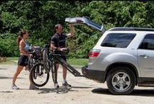 Softride Dura 4 Bike Rack / The Dura 4 Bike Rack carries up to four bikes, with our distinctive parallelogram design that lowers away with bikes loaded and level, to allow rear access to vehicle. More info at http://www.softride.com/rack-products/specifications/softride_dura_hitch_bike_rack