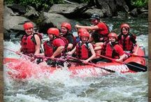 Upper River Rafting / Be prepared for big waves, big drops and plenty of surfing. This is an exciting 6 1/2 mile raft trip down class 3 and 4 rapids through the heart of the Smoky Mountains. / by Smoky Mountains