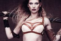 m|d lagertha collection ss16 / This collection wraps you in Lagertha's battlefield poetry. Graphic lines, leather ornaments and sturdy studs boost your body with the spirit of a true warrior queen.