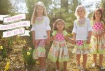 Ladylike Collection / Visions of elegant roses and charming ribbons brought this darling collection to life…picture your little ladies all dressed up in these precious prints!
