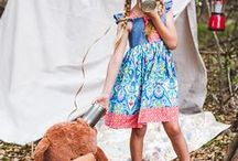 Summer Camp / Summer camp dress! This is a single dress collection of this gorgeous chambray and paisley dress. #summer #girls #dresses #cute