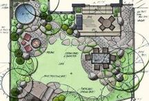 Landscape Graphics / Hand drawn landscape graphics for plans.
