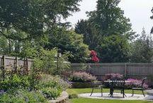 Garden Design - Cheshire Village Garden / #gardendesign #landscaping #paving #patio #granitepaving #circularpatio #raisedbed #stonewall #drystonewall #slate #waterfeature #plantingdesign #plantcombinations #gardendesigncheshire