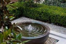 Water in the Garden / #waterfeature #ponds #waterrill #fountain #waterfall
